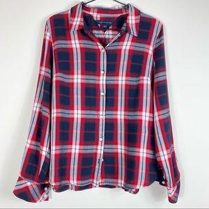Tommy Hilfiger Plaid Button Down Womens Shirt NWOT